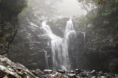 Stock Photo of ribeira grande - waterfall at levada do alecrim - madeira
