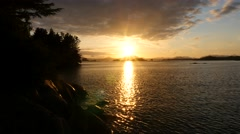 Sunset, sitka bay, alaska Stock Footage