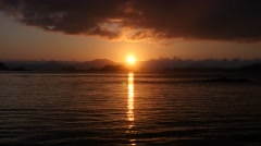 Sunset, sitka bay, alaska Stock Footage