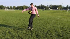 Soccer move. - stock footage