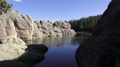 Relaxing at Sylvan Lake Stock Footage