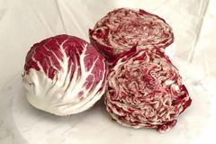 Radiccio rosso salat gemuse vitamine ernahrung food still stimmungen roter - stock photo