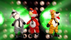 Dancing  puppets color full  Background Stock Footage