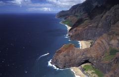 Aerial photo na pali coast hawaii Kuvituskuvat