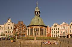 BRD Deutschland Mecklenburg Vorpommern City Wismar at the Market Square with Stock Photos