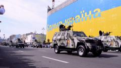 Military parade, Independence Day of Ukraine, Kiev, 2014. Stock Footage