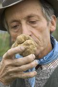 Between asti and alba piedmont piemonte italy truffles searcher finder hunter Stock Photos