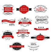 High quality product banners and labels Stock Illustration