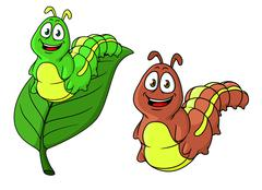 Stock Illustration of cartoon caterpillar character