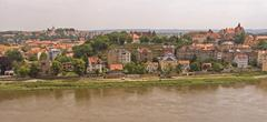 Stock Photo of BRD Germany Sachsen Meissen at the River Elbe City of the Meissen Porcelain