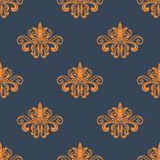 Retro orange seamless pattern Stock Illustration