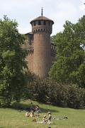 Turin torino piedmont piemonte italy borgo mediovale in the parco valentino r Stock Photos