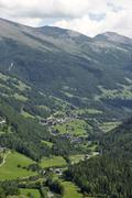 View of Heiligenblut from Sattelalm Carinthia Austria Stock Photos