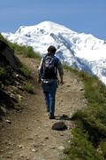 Stock Photo of Ascent to the Prince Albert Refuge Mont Blanc Le Tour Chamonix France