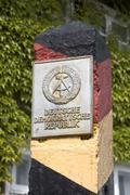 Stock Photo of Schnackenburg Low Saxony Germany local border museum boundary stone of the