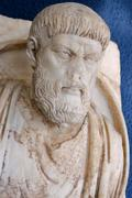 turkey aphrodisias in the meander valley excavations archeological museum pin - stock photo