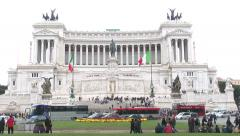 899. Rome. Tourists outside the Altare della Patria. Stock Footage
