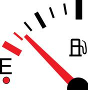 illustration of a fuel gauge on white background - stock illustration