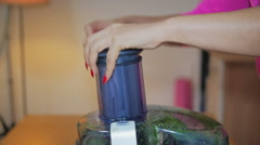 Woman Juicing Vegtables Stock Footage