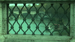 905. Italy Venice. looking from the bridge to the river Stock Footage