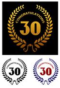 Anniversary jubilee celebration emblems Stock Illustration