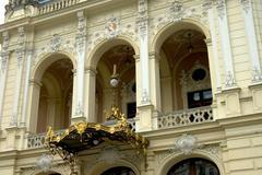 municipal theatre carlsbad karlovy vary czech republic - stock photo