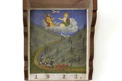 Votive picture in chapel of Saint Briccius near Heiligenblut Carinthia Austria - stock photo