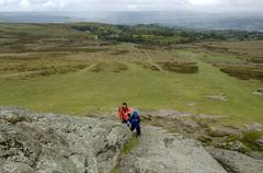 view from haytor dartmoor national park devon england - stock photo