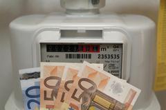 ascending energy price - stock photo