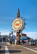 famous fisherman's wharf of san francisco - stock photo