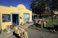 Street cafe in prince albert, klein karoo region, south africa Stock Photos
