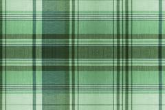 Tartan green pattern - plaid clothing table Stock Photos
