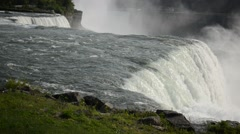 Niagara Falls on the USA-Canadian border Stock Footage