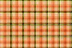 tartan orange and green pattern - plaid clothing table - stock illustration