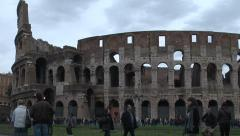918. Italy. People outside the Coliseum in Rome Stock Footage