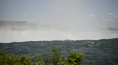 The top of Niagara Falls on the USA-Canadian border Stock Footage