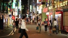 Stock Video Footage of People walking in Akihabara, Tokyo, Japan