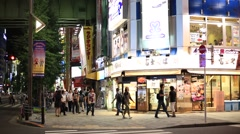 People walking in Akihabara, Tokyo, Japan Stock Footage