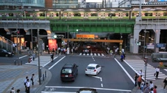 Stock Video Footage of Elevated railtrack in Akihabara, Tokyo, Japan