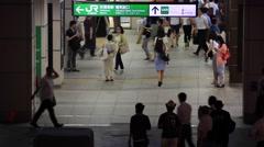People walking at JR Akihabara Station, Tokyo, Japan Stock Footage