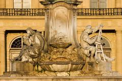 Stock Photo of Wurzburg Residence Franconia fountain Bavaria Germany