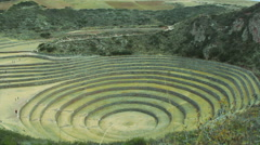 The Incan agricultural terraces at Moray, Peru - stock footage