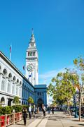 famous ferry building on april 24, 2014 in san francisco, california - stock photo