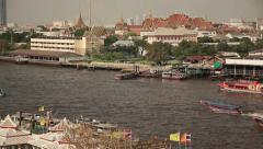 Bangkok Chao Praya Boats Stock Footage