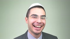 4K Laughing Jew Man Stock Footage