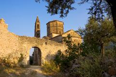 Church of agios spyridon, kardamyli old town, peloponnese, greece Stock Photos