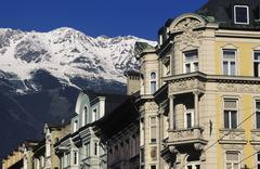 maria theresia street old town innsbruck austria - stock photo