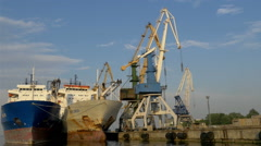 The view of the harbour port in estonia, gh4 Stock Footage
