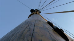 the sail mast of the big ship or boat on dock, gh4 - stock footage