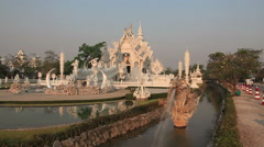 White Temple Chiang Rai Stock Footage